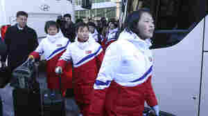 North Korean Women's Hockey Players Arrive To Begin Olympic Training With South