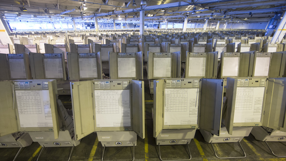 Pennsylvania is one of the states that mostly rely on antiquated voting machines that store votes electronically, without printed ballots or other paper-based backups that could be used to double-check the balloting. There's almost no way to know if they've accurately recorded individual votes, or if anyone tampered with the count. (Matt Rourke/AP)