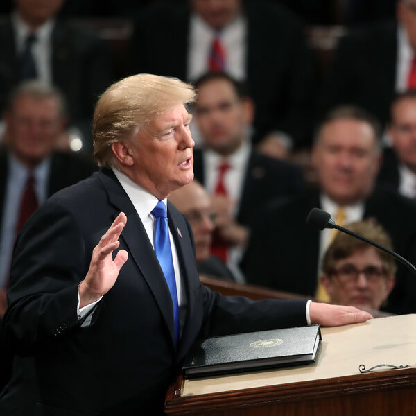 Trump: 'The State Of Our Union Is Strong Because Our People Are Strong'