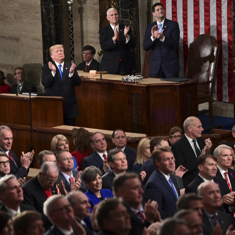 8 Key Moments And Themes From Trumps First State Of The Union
