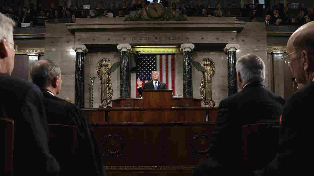 Trump, in State of the Union, seeks full military funding, but how?