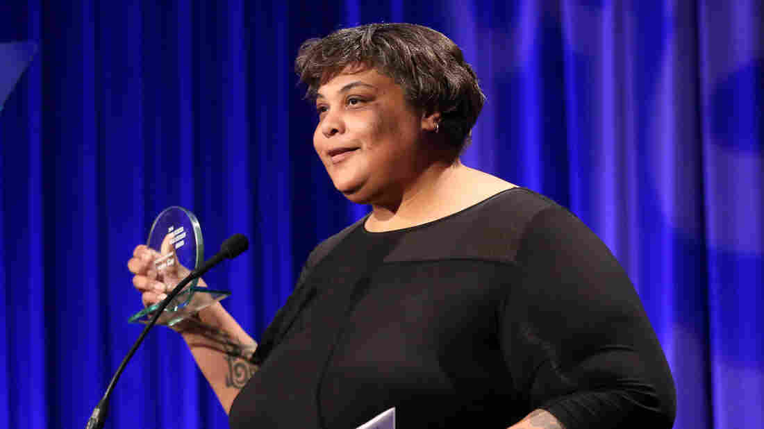 Roxane Gay accepts her Freedom to Write Award at the PEN Center USA's 25th Annual Literacy Awards Festival.