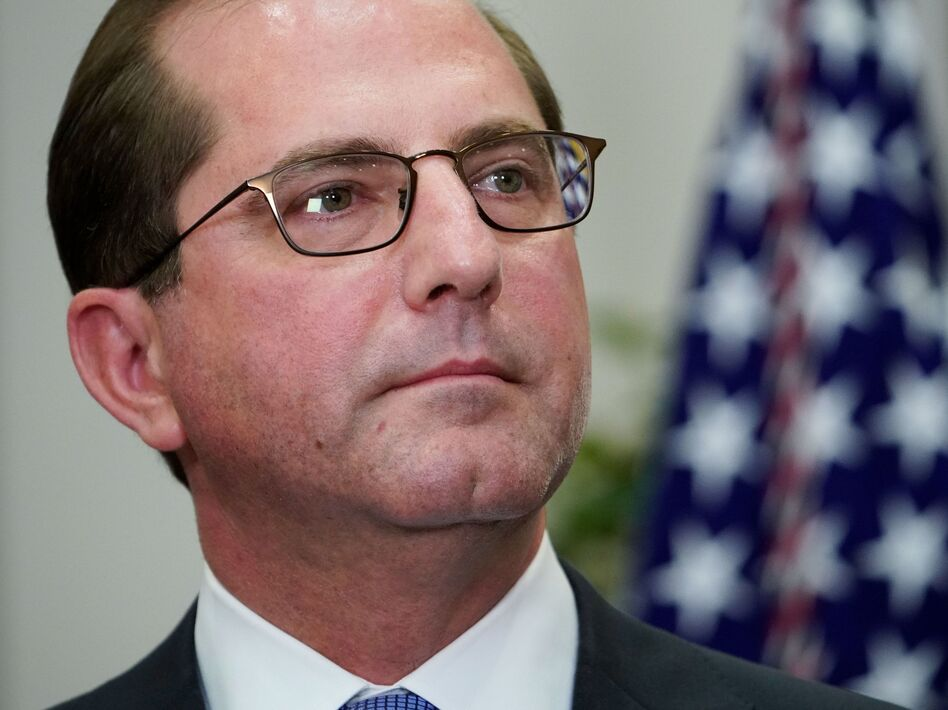 Health and Human Services Secretary Alex Azar announced federal approval for changes to Indiana's Medicaid program Friday in Indianapolis. (Mandel Ngan/AFP/Getty Images)