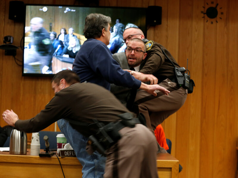 Victims Father Lunges At Larry Nassar In Michigan Courtroom