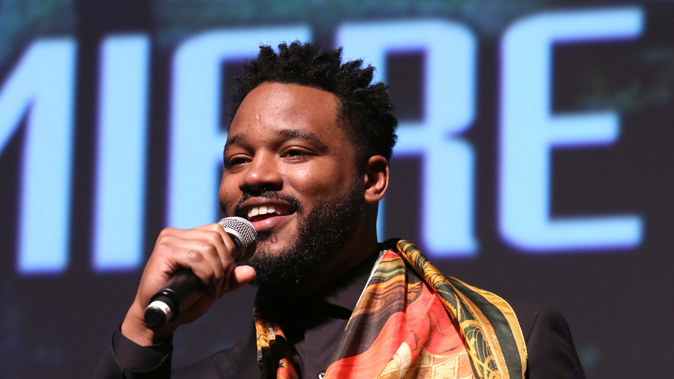 Ryan Coogler, director and co-writer of Marvel's <em>Black Panther</em>, speaks at the film's Los Angeles premiere in January. (Jesse Grant/Getty Images )
