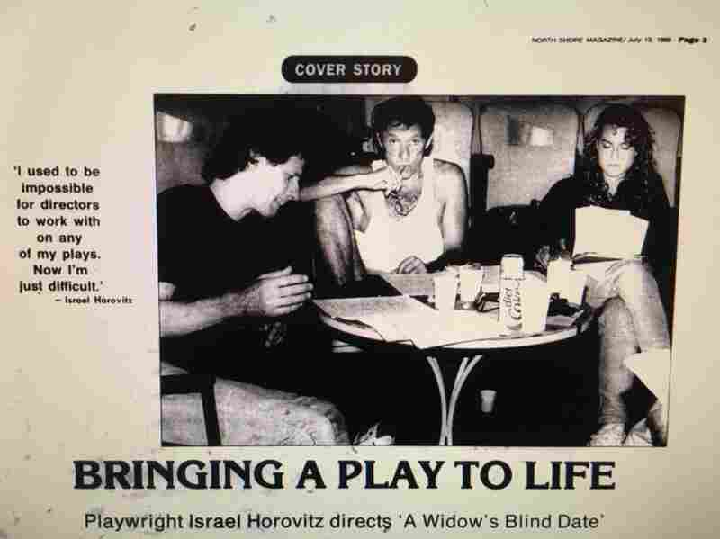 In 1989, The Gloucester Daily Times reviewed The Widow's Blind Date, written by Israel Horovitz (center). It's a play that depicts a woman confronting her rapists. Jocelyn Meinhardt (right), who worked on the play at the time, says she was sexually assaulted by Horovitz.