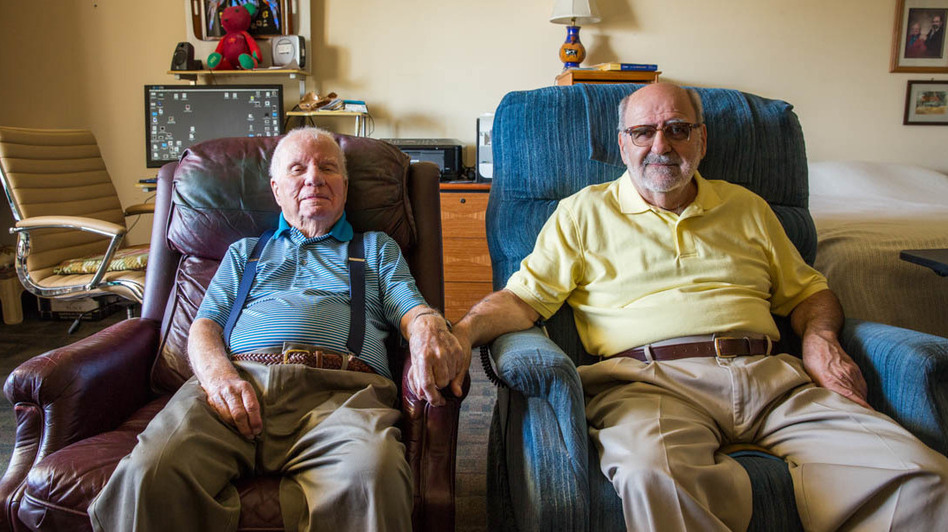 John Banvard, 100, and Jerry Nadeau, 72, tied the knot five years ago, in a wedding at their veterans home in Chula Vista, Calif.