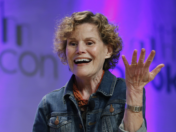 Author Judy Blume speaks about her book, In the Unlikely Event, in 2015.