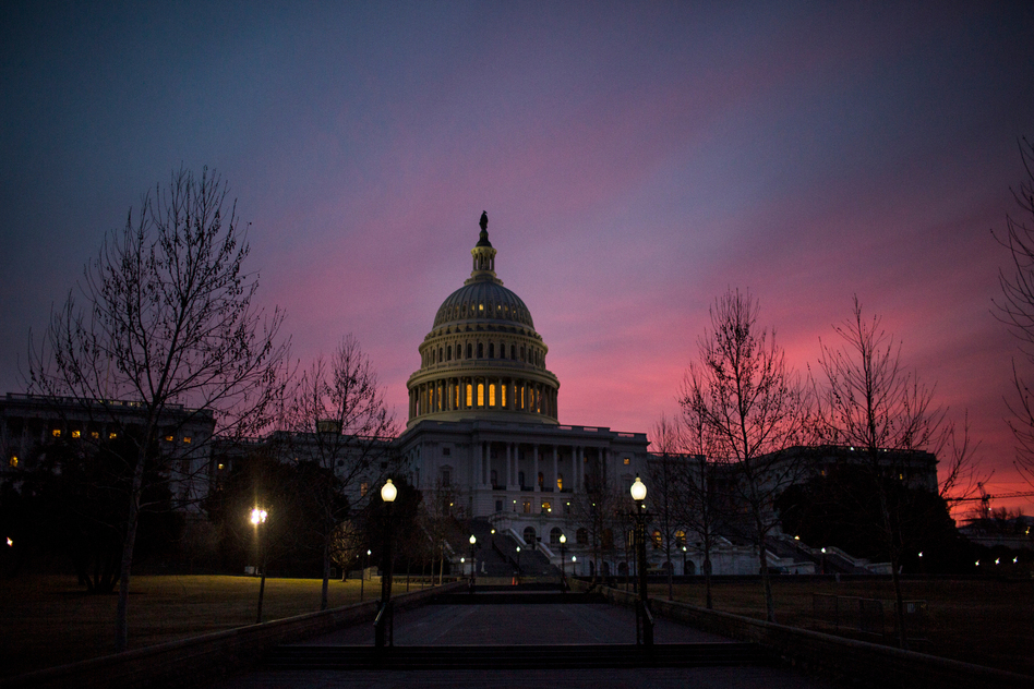 Congress approved a bipartisan budget agreement shortly before sunrise. (Zach Gibson/Getty Images)