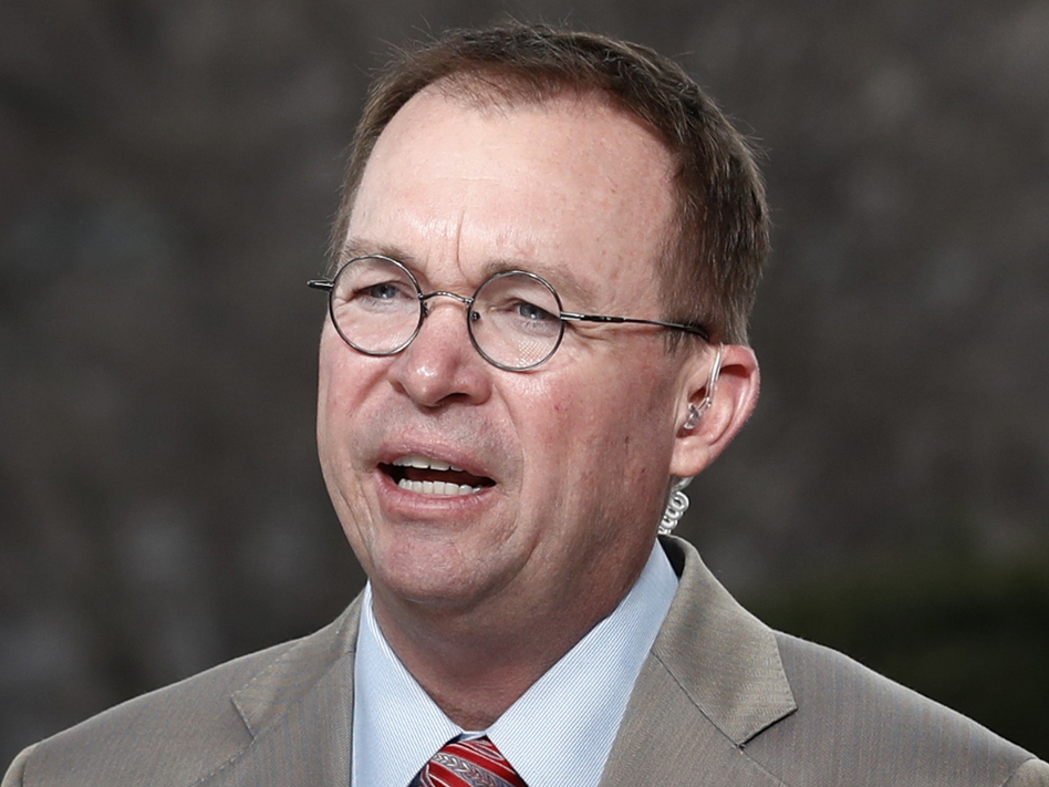 Office of Management and Budget Director Mick Mulvaney is also the interim director of the Consumer Financial Protection Bureau. (Carolyn Kaster/AP)