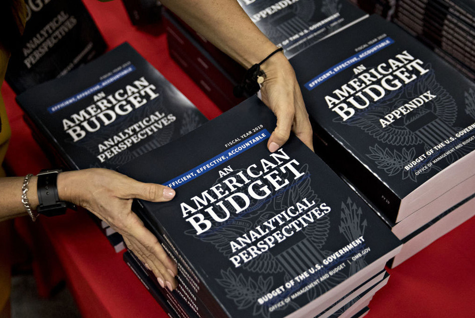 President Trump's budget request includes provisions that could affect drug prices. (Andrew Harrer/Bloomberg via Getty Images)