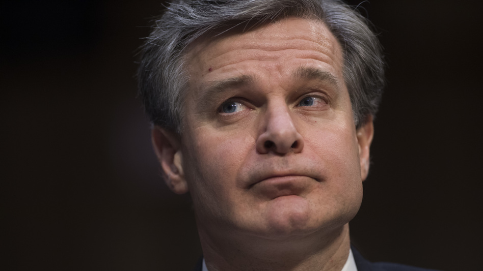 FBI Director Christopher Wray addressed the background investigation of former White House staff secretary Rob Porter during a Senate intelligence committee hearing on Tuesday. (Saul Loeb/AFP/Getty Images)