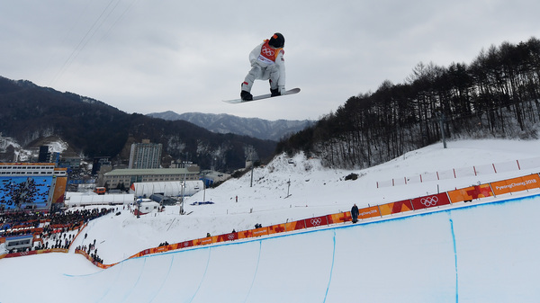 Shaun White of the U.S. warms up ahead of the men