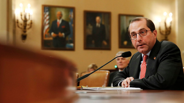 Health and Human Services Secretary Alex Azar faced questions Wednesday from the House Ways and Means Committee about Idaho
