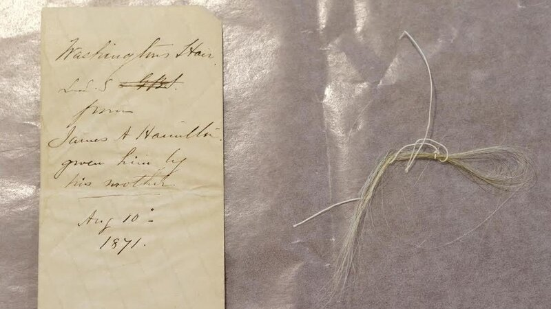 N Y  College Says Forgotten Book Reveals Lock Of George Washington's