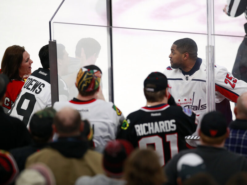 2ead9ec5357 Chicago Fans Bounced For Racist Taunts Aimed At Capitals  Devante  Smith-Pelly