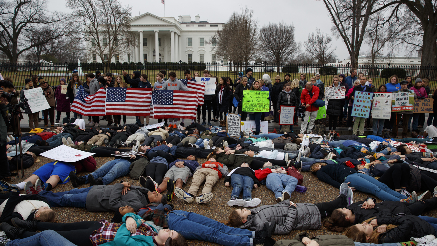 Teens 'Lie In' At White House To Push For Stronger Gun Control