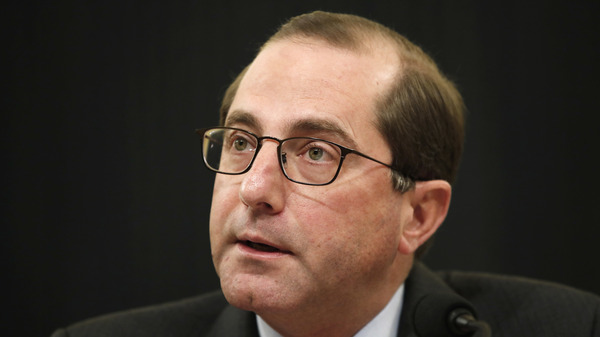 Health and Human Services Secretary Alex Azar speaks to the House Ways and Means Committee about the FY19 budget, Wednesday, Feb. 14, 2018, on Capitol Hill in Washington.