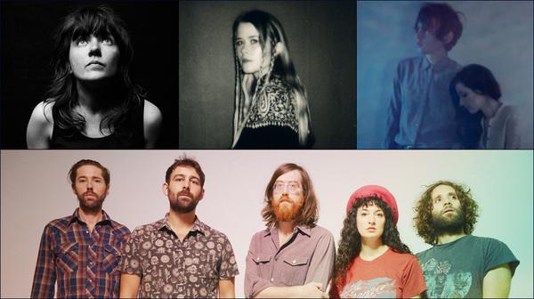 Clockwise from upper left: Courtney Barnett, Anna Von Hauswolff, Exitmusic, Okkervil River