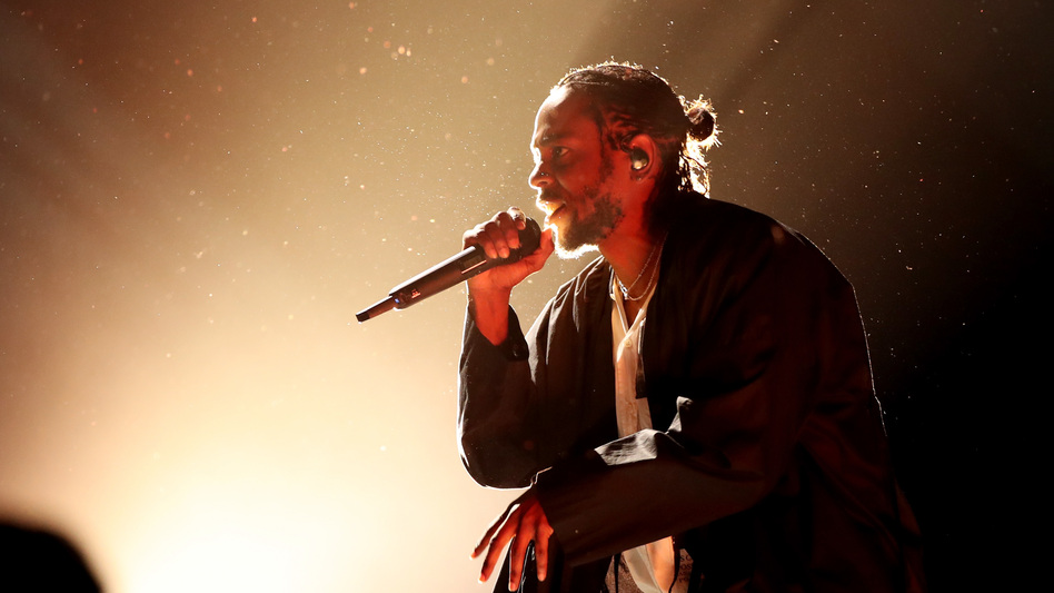 Kendrick Lamar performs at the 60th Annual Grammy Awards at Madison Square Garden in January.