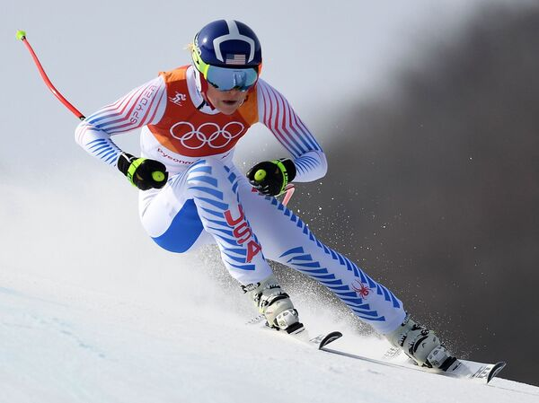 Lindsey Vonn won a bronze medal in the women's downhill at the Pyeongchang Winter Olympics.