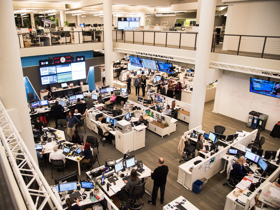 """An outside legal review found a """"perception of a culture at NPR that favors men,"""" in a way that it said many employees believe """"can foster harassment and bullying."""" (Stephen Voss/NPR)"""