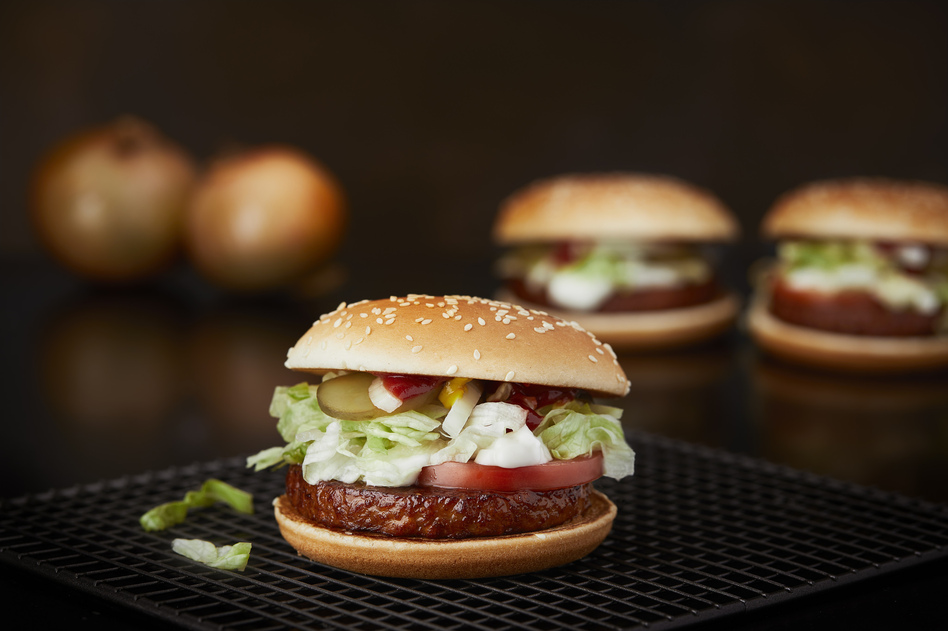 Sales of McDonald's new soy-based patty have far surpassed estimates in Sweden, where half the population says it's interested in more vegetarian options. Are diners just curious or truly lovin' it? (McDonald's Sweden)