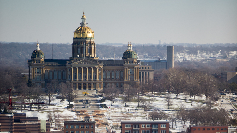 A Senate committee at the Iowa State Capitol was considering a bill that would have removed the permit requirement to obtain and carry weapons, but the chairperson now says it's a bad time for that legislation. (Andrew Harnik/AP)