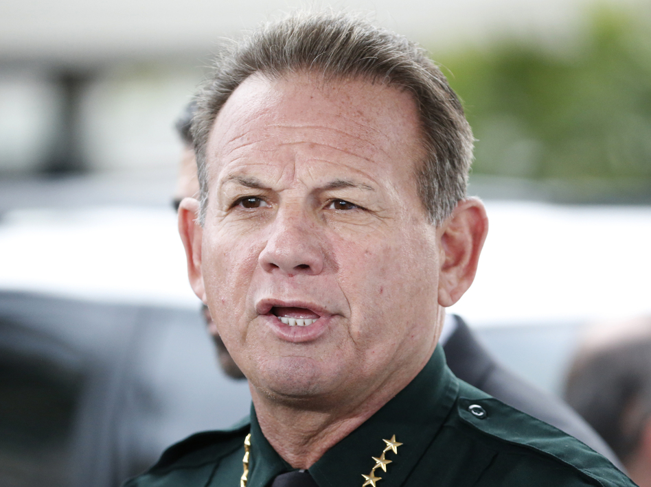 Broward Sheriff Scott Israel speaks during a news conference at Fort Lauderdale–Hollywood International Airport (Wilfredo Lee/AP)