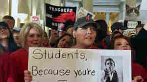 West Virginia's Teachers Walk Off The Job, Protesting Low Pay And Benefit Cuts