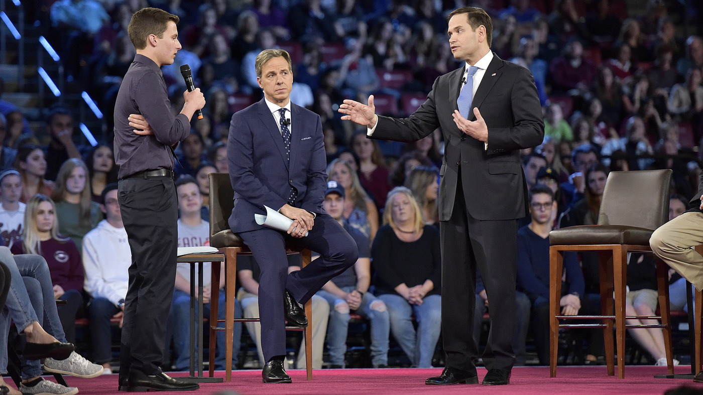 photo image At CNN Town Hall, Sen. Marco Rubio Declines To Say He Won't Take NRA Money
