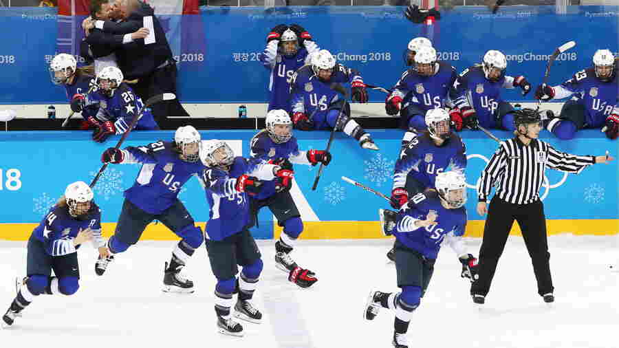 U.S. Women's Hockey Team Wins Gold, Beating Canada In Penalty-Shootout Thriller