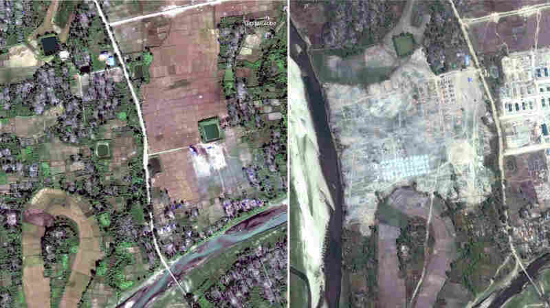 PHOTOS: Myanmar Apparently Razing Remains Of Rohingya Villages