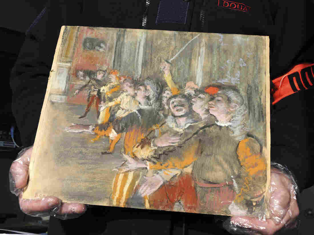 French customs officers find stolen €800k Degas painting on bus near Paris
