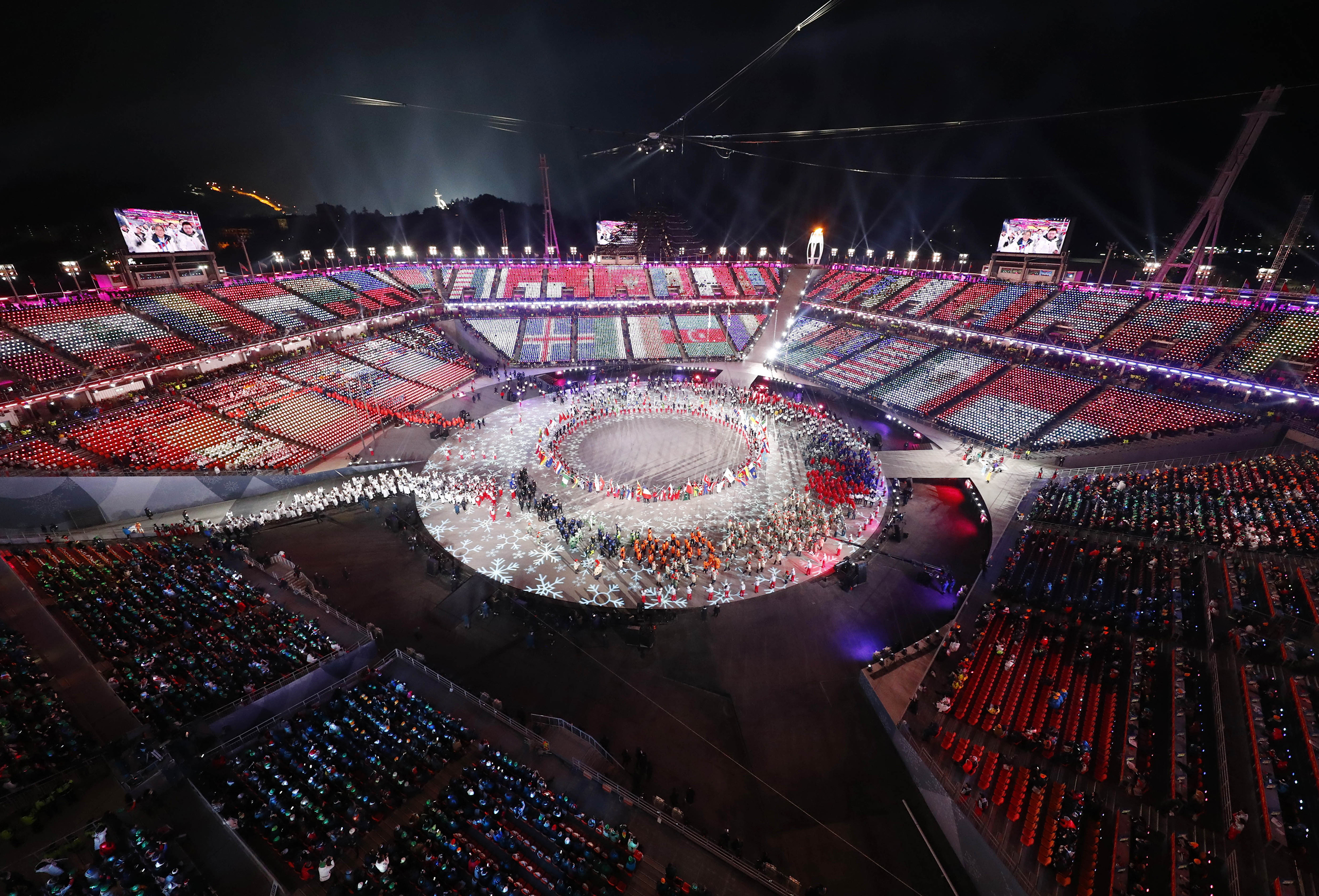 pyeongchang olympics closing ceremony ends biggest winter games ever ncpr news. Black Bedroom Furniture Sets. Home Design Ideas