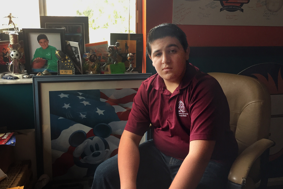 Surviving a shooting at his high school turned Gabe Glassman into a gun-control activist. The Marjory Stoneman Douglas High School sophomore says political activism is his way of coping. (Heidi Pickman/Youth Radio)