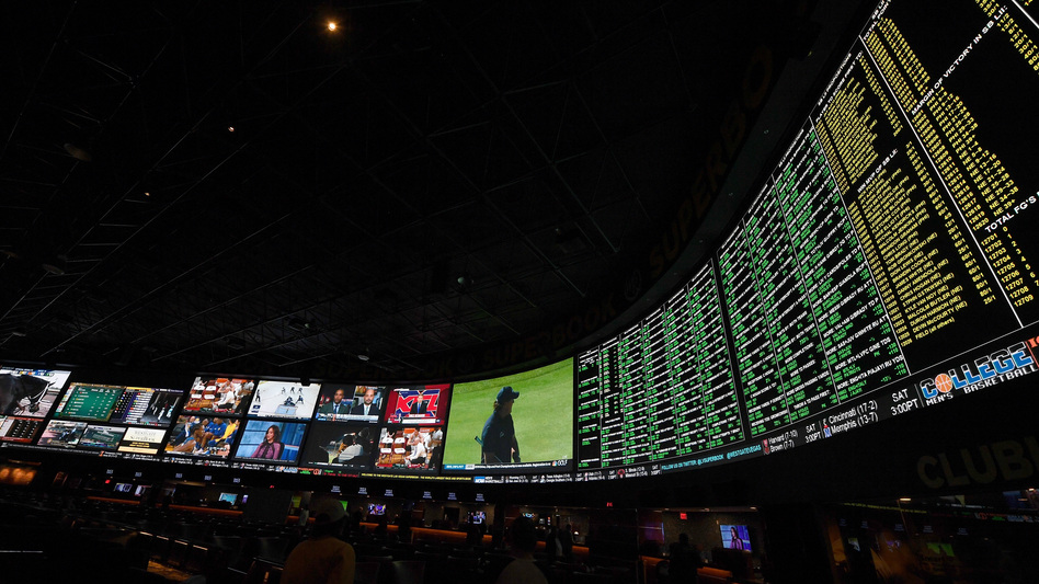 Proposition bets for Super Bowl LI are displayed at the Race & Sports SuperBook at the Westgate Las Vegas Resort & Casino on Jan. 26 in Las Vegas, Nev. — one of four states where sports betting is legal. (Ethan Miller/Getty Images)