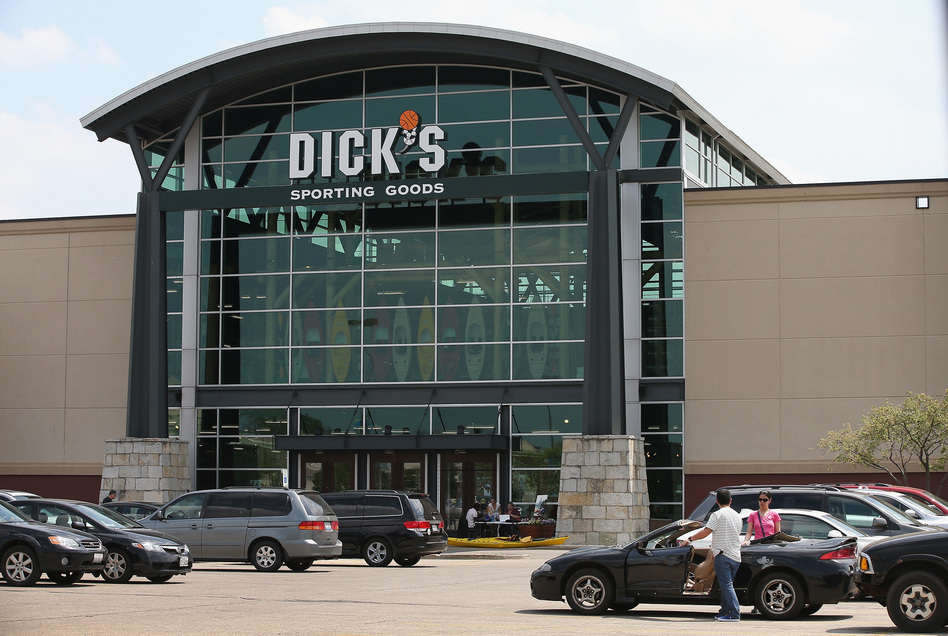 """A statement from Dick's Sporting Goods said, """"We have to help solve the problem that's in front of us. Gun violence is an epidemic."""" (Scott Olson/Getty Images)"""