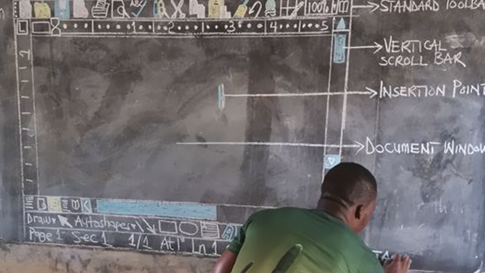 Computer Teacher With No Computers Chalks Up Clever Classroom Plan