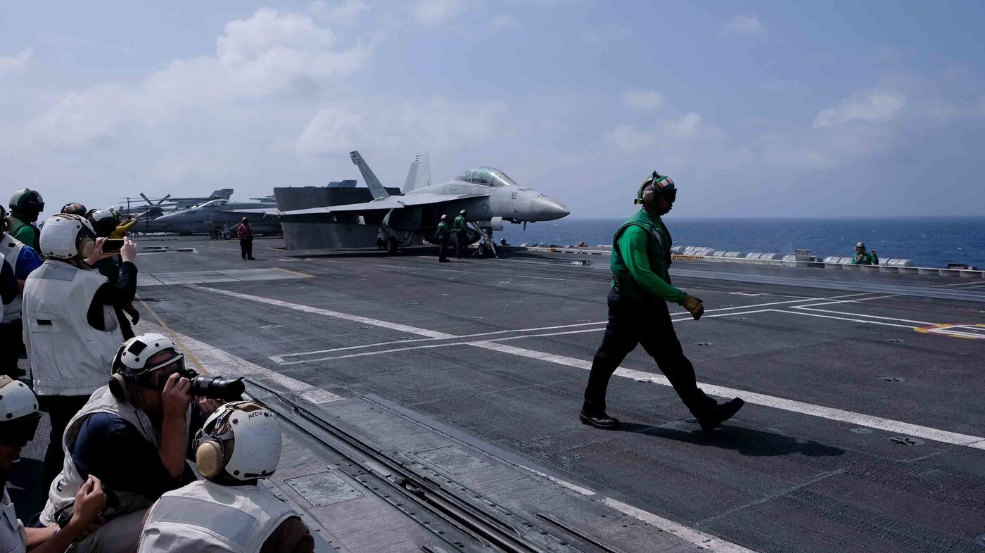The U S  Positions Warships In Tense Asia-Pacific Waters
