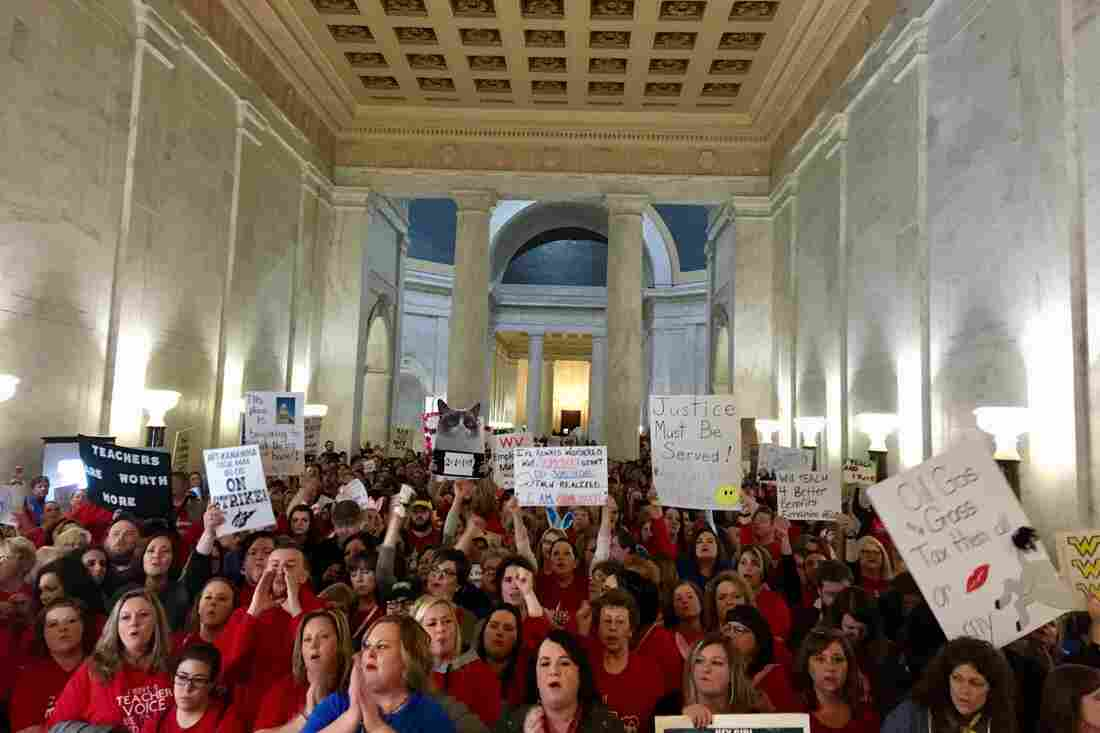 West Virginia teacher's strike: 'We feel ... under attack'