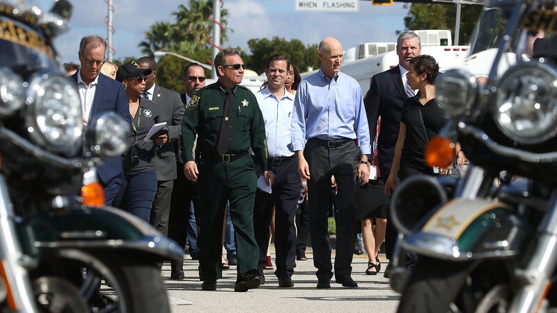 Broward Sheriff Avoids the Spotlight As His Supporters Rally : NPR