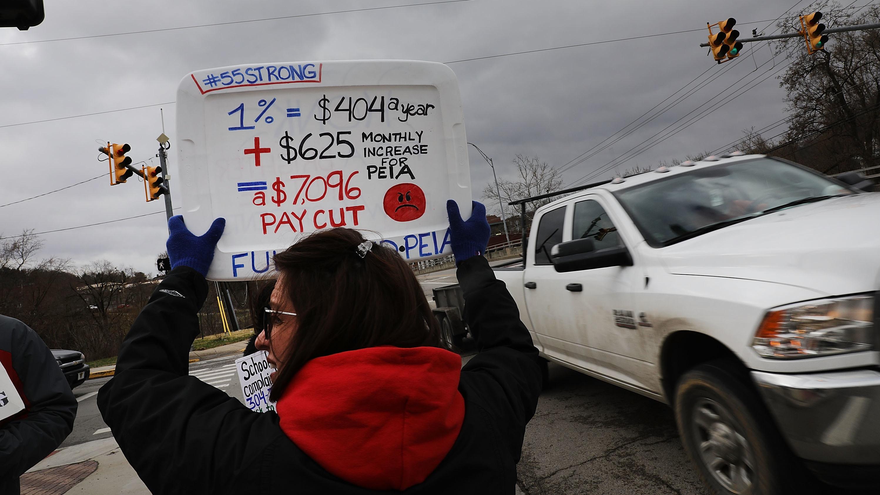 West Virginia Teachers Continue Major Strike For Pay Raise