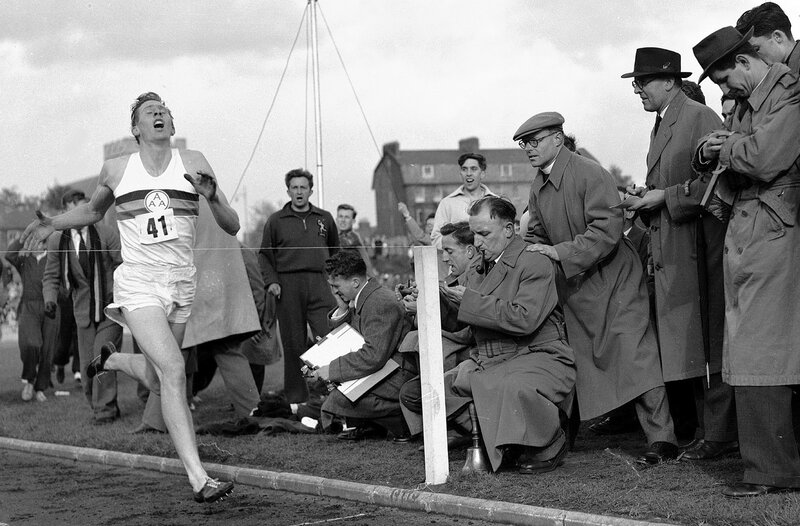 On May 6, 1954, Britain's Roger Bannister hits the tape to become the first person to break the 4-minute mile in Oxford, England. His family said Sir Roger Bannister died peacefully in Oxford on March 3 at age 88. AP