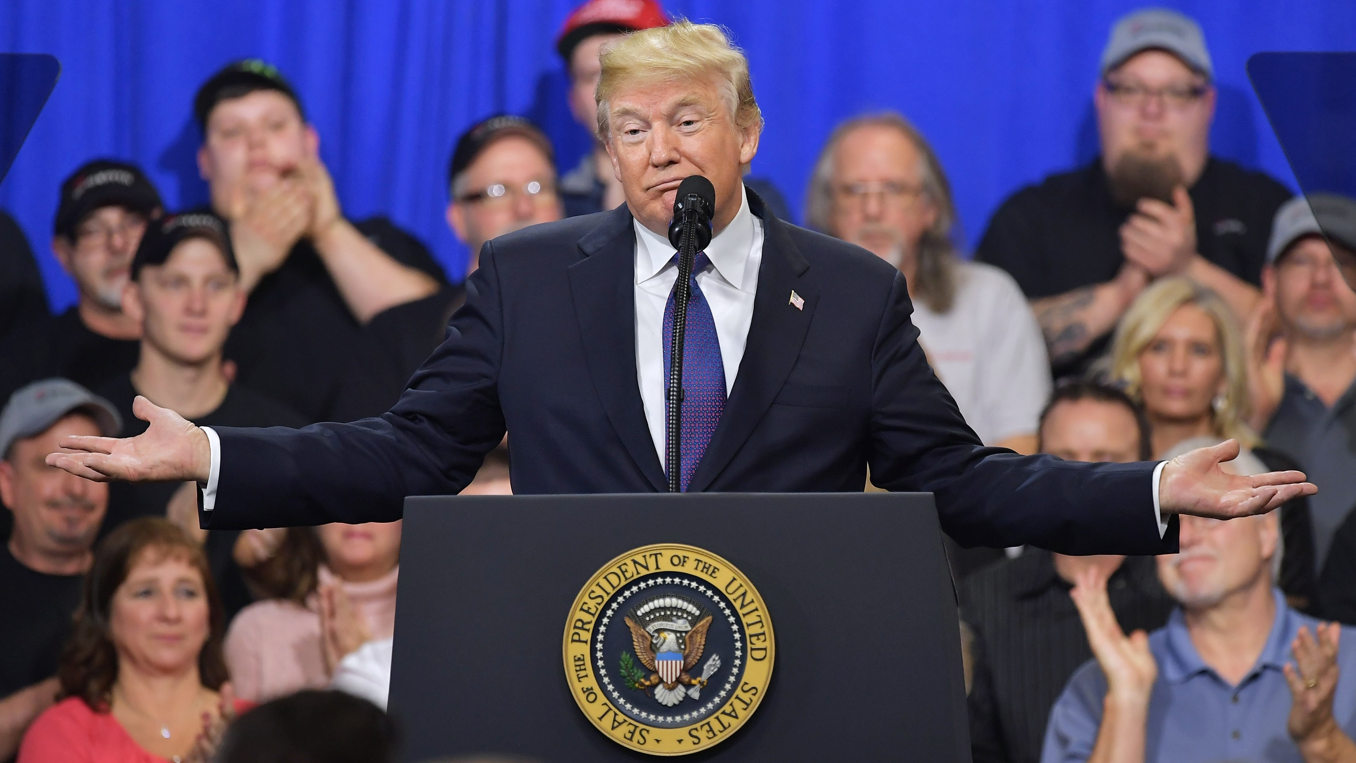 """When he spoke last month at hydraulic cylinder manufacturer Sheffer Corp. in Blue Ash, Ohio, President Trump told the crowd """"history is not on our side"""" in the 2018 midterms."""