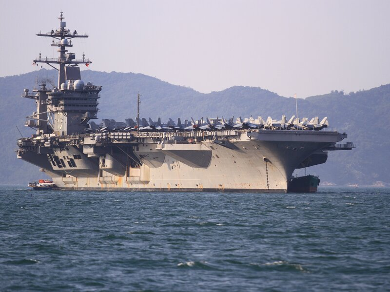 A U.S. Aircraft Carrier Anchors Off Vietnam For The First Time Since ...