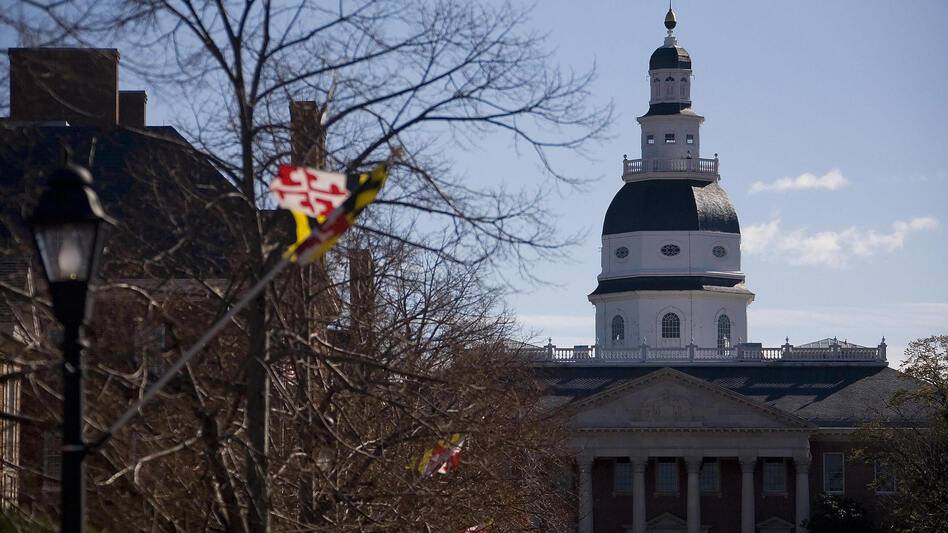The Maryland Senate approved a bill on Monday that would require candidates on a presidential ticket to release their tax returns in order to appear on the state's ballot. The Maryland State House in Annapolis is seen here in 2007. (Jim Watson/AFP/Getty Images)