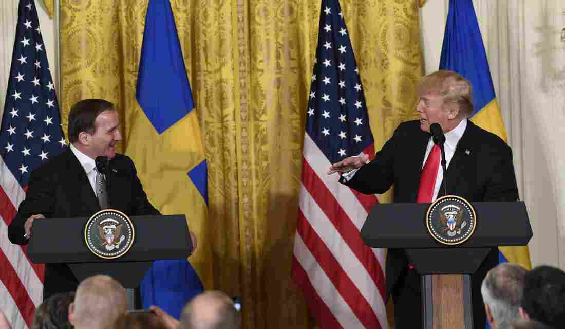 Trump set to take questions alongside Swedish prime minister