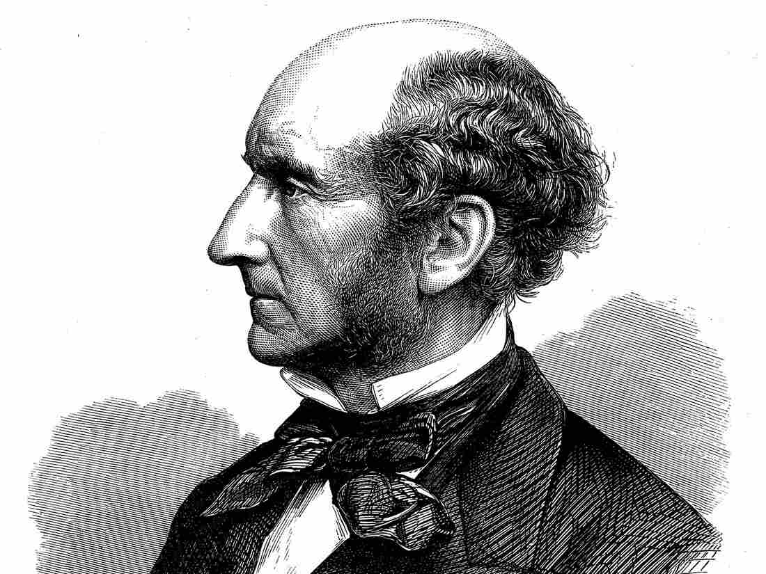 John Stuart Mill (1806-73) British social reformer and philosopher. Wood engraving published at time of his death. (Photo by: Universal History Archive/UIG via Getty Images)