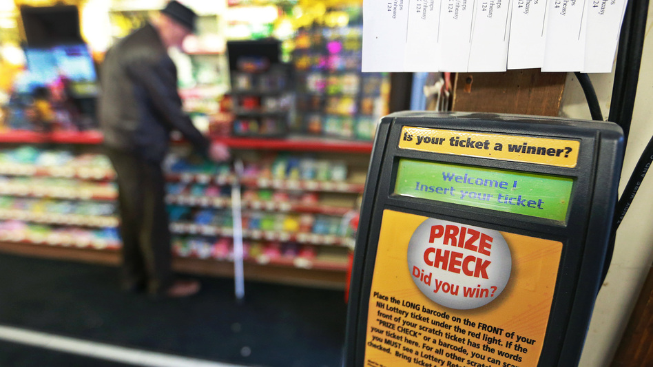 A ticket checking machine inside the store in Merrimack, N.H., where a $560 million Powerball ticket was sold in January. The winner claimed the prize on Wednesday via a trust. A court will decide whether she is allowed to remain anonymous.